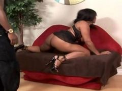 Black Booty Whore Rides Huge Black Cock