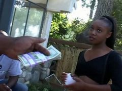 Ebony Babe Gets Model Offer At Yard Sale