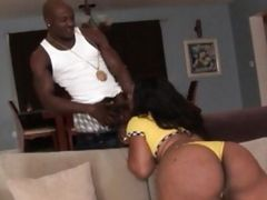 Fat Ass Ebony Whore Gets Pussy Pummeled
