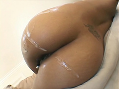 Her meaty ebony pussy is dying to get stuffed an fucked hard by this big cock, and it does all..