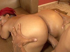 Luscious Louis has some serious curves on her, some real rolls underneath her big natural tits,..