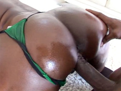 Aryana Starr takes on Lexington Steele�s huge black dick, and she just can�t get enough of it. He splits her tight black pussy open with is huge member and doesn�t stop until he�s ready to shoot his load on her great butts.