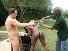 Busty ebony Jada shows off her big round ass. Jada Fire