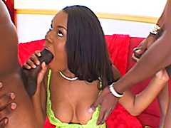 Lovely Candice Nicole completely destroyed by two evil fuckers