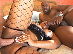 Ebony babe Cherokee in action from this all black series