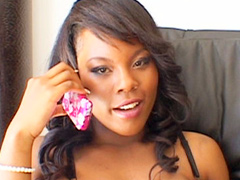 Black slut Coffee Brown gets double pumped with ebony meat stick in these videos