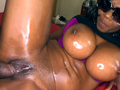Baby Cakes is a thick ebony goddess. She has nice huge natural tits, a tight plump pussy and a..