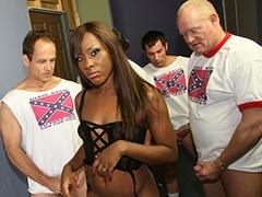 Ebony Babe Gets Gangbanged By Rednecks And Bukkake. Ms Platinum
