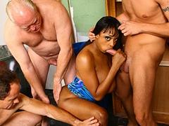 Black Amazon Queen Gangbanged By White Rednecks. Carmen Hayes