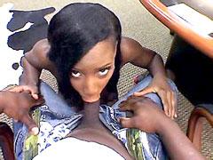 Cute ebony babe, Rane Revere take big dick in asshole