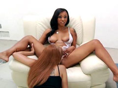 Sexy ebony Porsche Carrera lick pussy horny ebony Angel Cummings