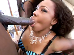 Ebony chick Miss Platinum gets her big round ass fucked