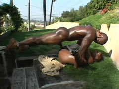 12 inch black cock bang cunt ebony babe with perfect ass outdoor