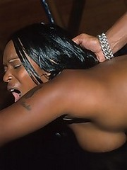 Uncommon black hooker riding dick coupled with loving it