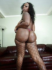 Black indulge with huge bowels Skyy Black shows her exasperation in stockings