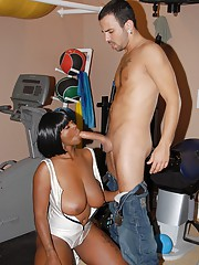 Black BBW Stacy Adams gets her slimy pussy banged all round slay rub elbows with gym