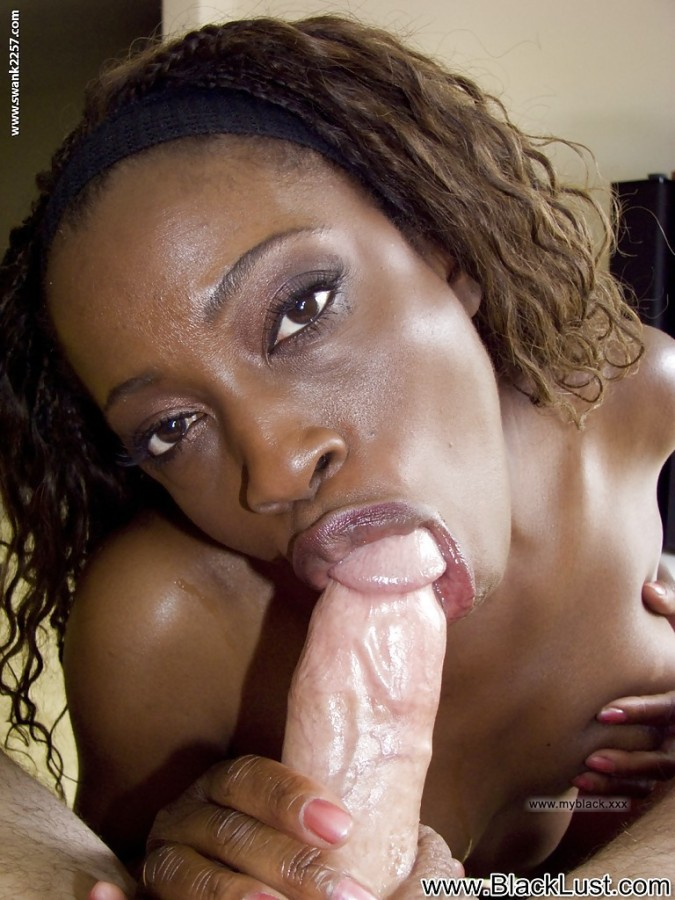 Thick Ebony Sucking White Dick