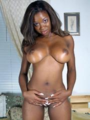Busty ebony young women tempts us