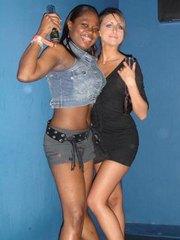 Hot ebony club miss posing slutty on cam