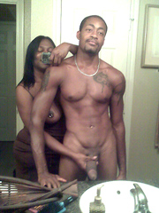 Amateur black couple fron New York, nude and always ready for sex.