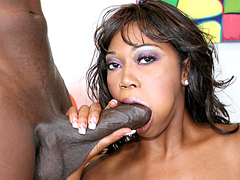 Ebony with saggy tits gets doggystyle fucking on couch. Delotta Brown