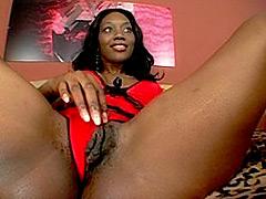 Ebony milf loves to gag a black rod. Nyomi Banxxx