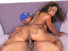 Sexy black chick loves big fat dicks. Erika Vution