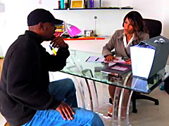 Ebony women Anjanette Astoria is one office worker that will stop at nothing to do a good job. She..
