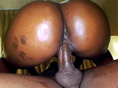 Big round booty ebony model Kookie! Hot big ebony babe spreads her nice sexy ass for a huge dick,..