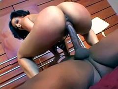 Charming ebony babe Jasmine Cashmere rides very big black wang