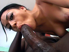 Curvy whore Summer Bailey skillfully sucks dark massive dick