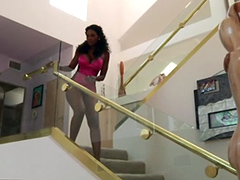 Black housewife Nyomi Banxxx got big tits and two holes to fuck